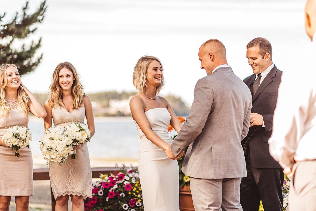 Wedding Ceremony at Kiana Lodge