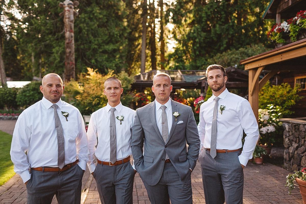 Wedding Party Portraits at Kiana Lodge