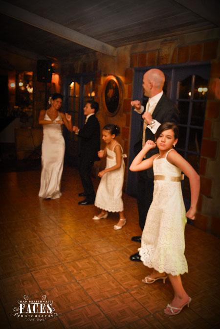 Dacing at the wedding reception