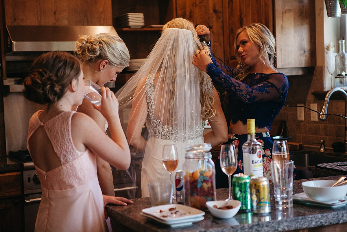 Park City Bride getting ready