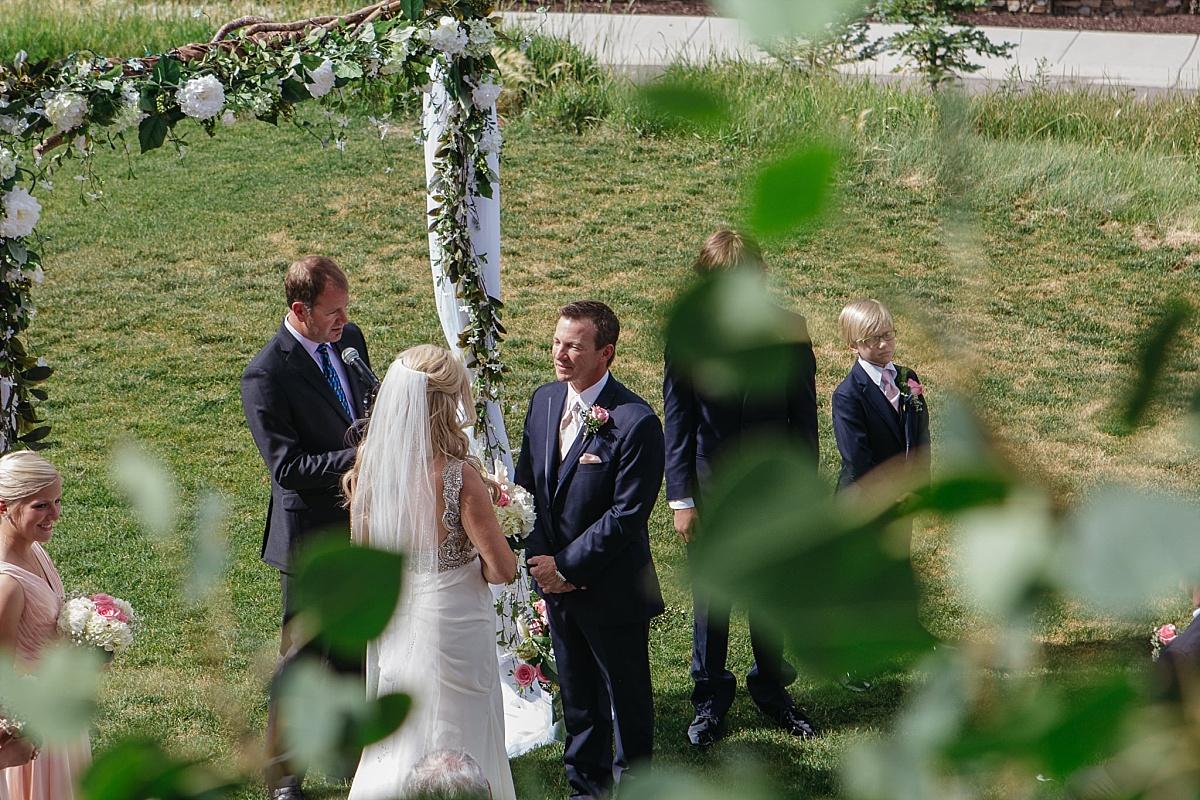 Jeremy Ranch Wedding ceremony