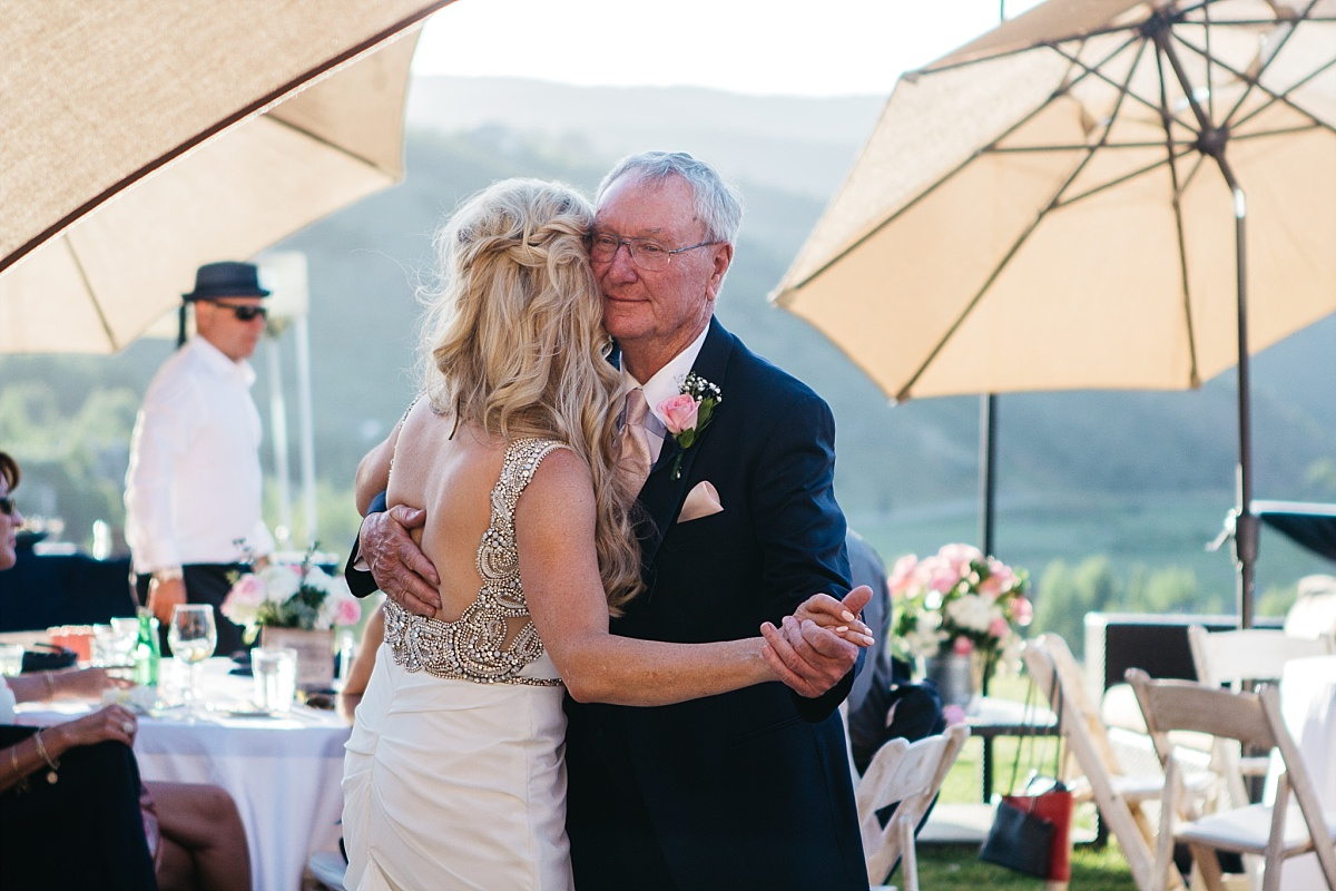 Jeremy Ranch Wedding Dance with father
