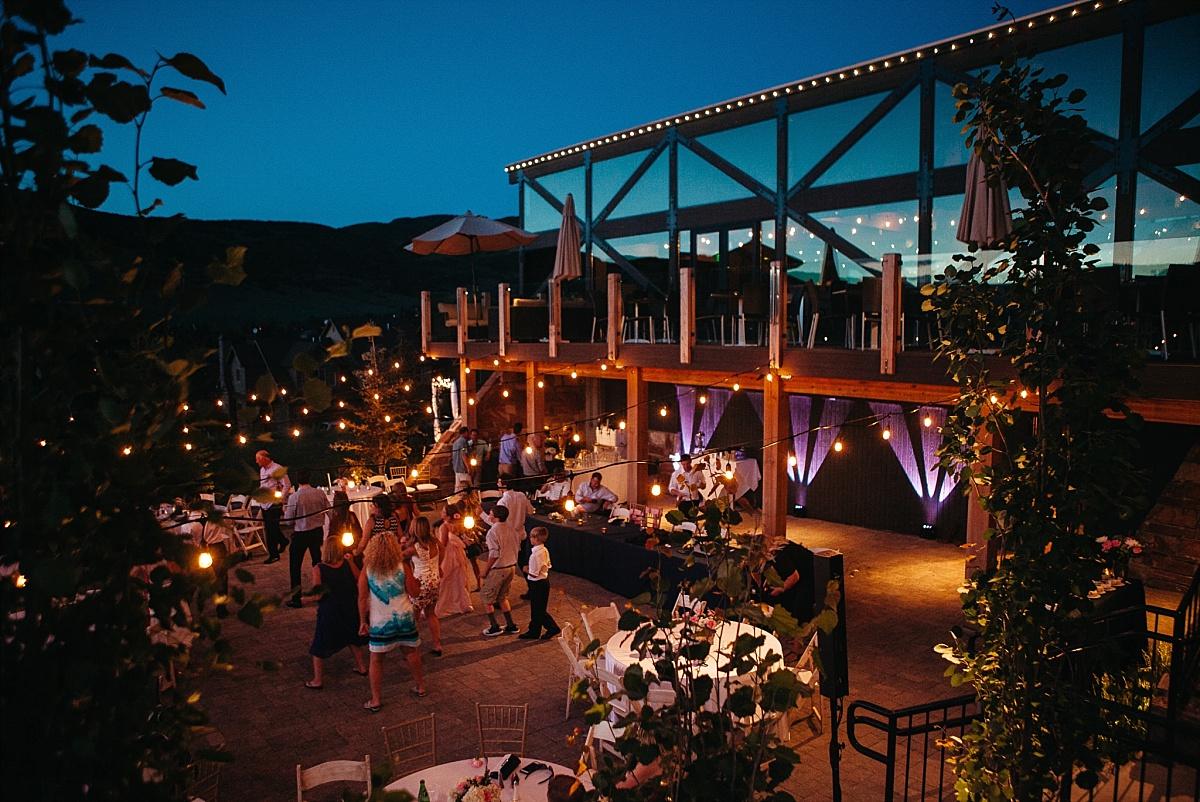 Jeremy Ranch Mountain Wedding Night Shot