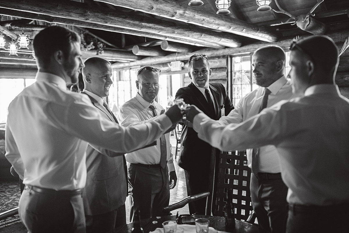 Groom Toast at Kiana Lodge
