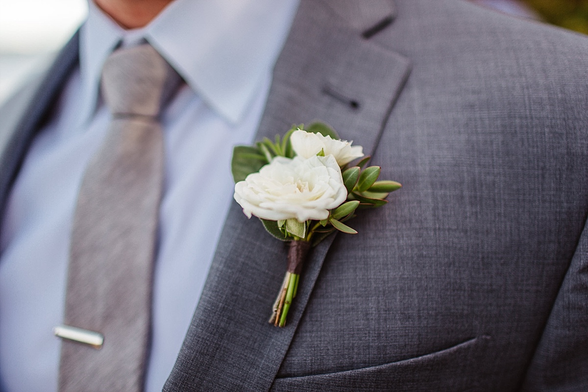 Groom Boutonniere at Kiana Lodge