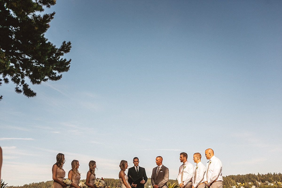 Walking down the aisle at Kiana Lodge