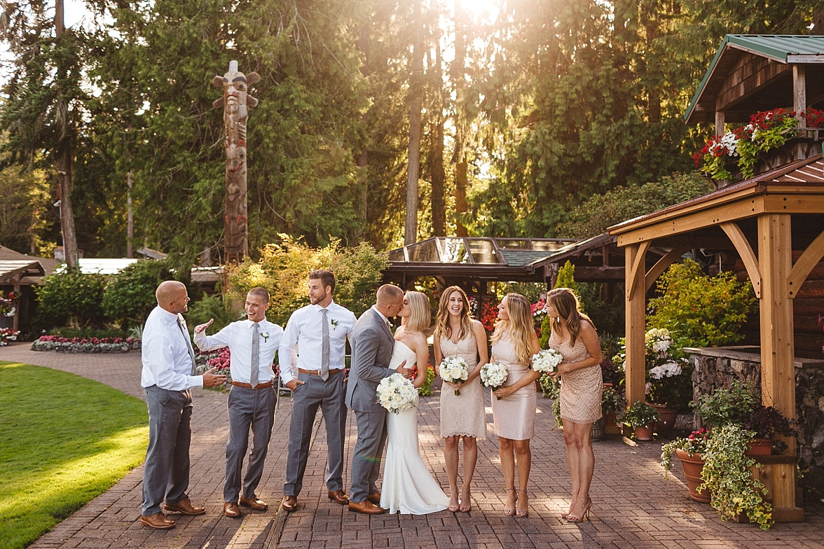 Wedding Party Portraits at Kiana Lodge