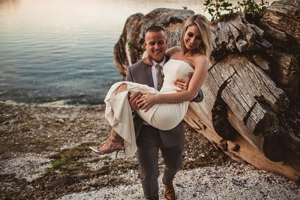 Wedding Portraits at Kiana Lodge