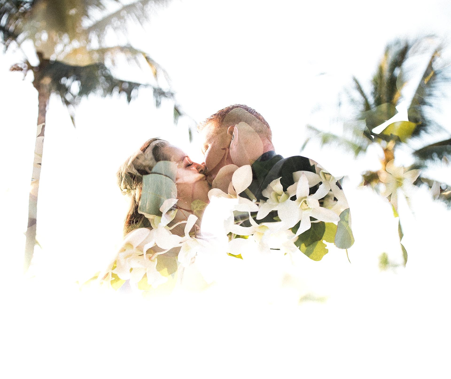 Maui Wedding Double Exposure