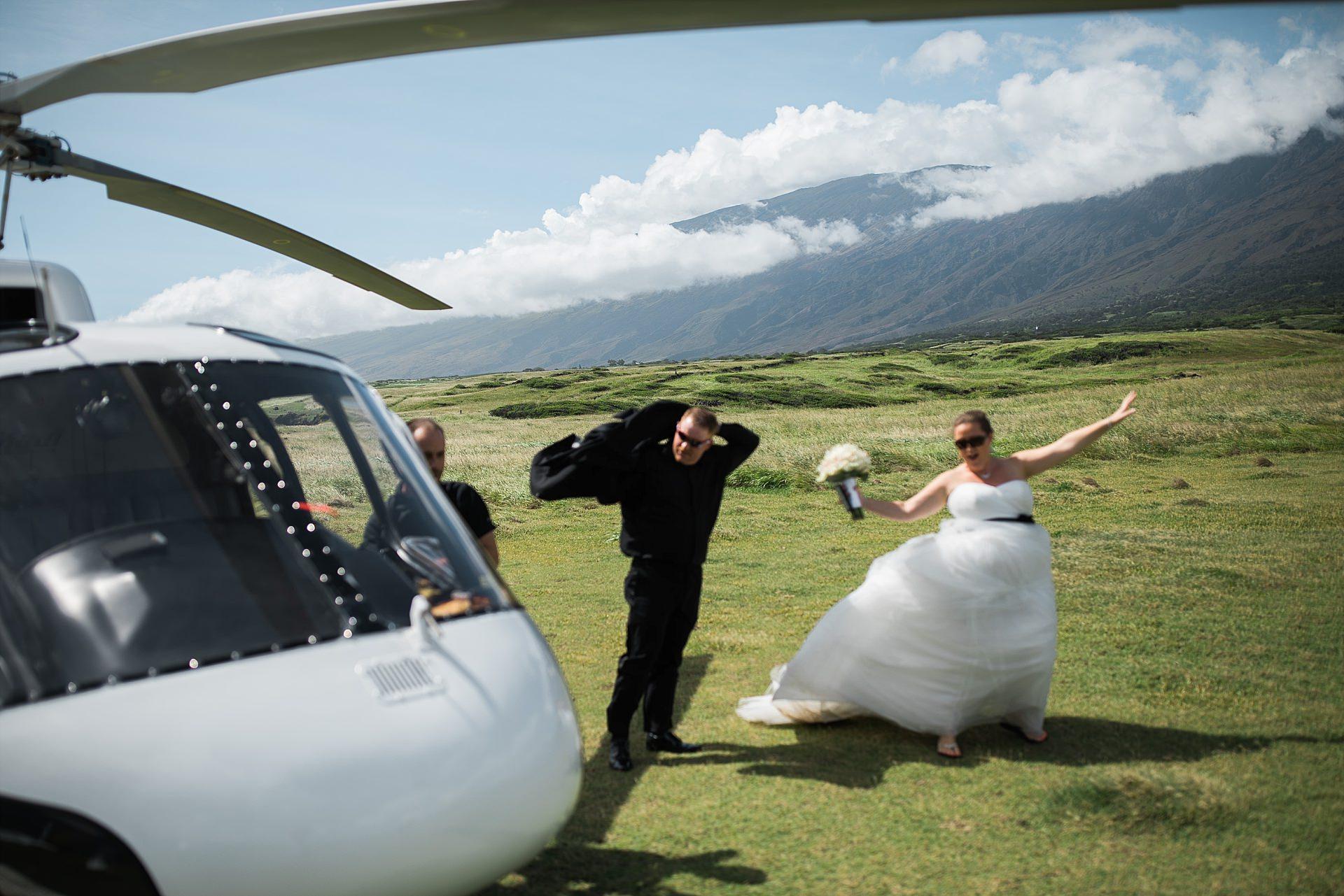 Maui Wedding Helicopter
