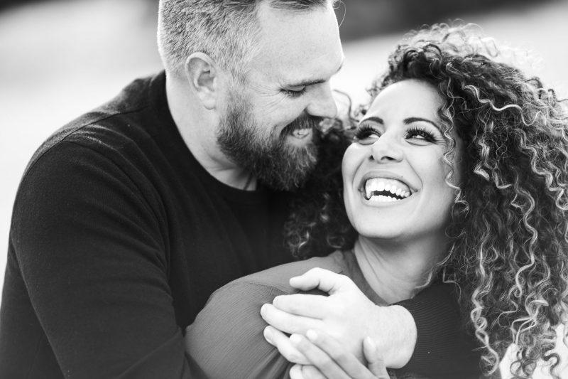 Gerusa & Eric Candid Engagement Photo Salt Lake City