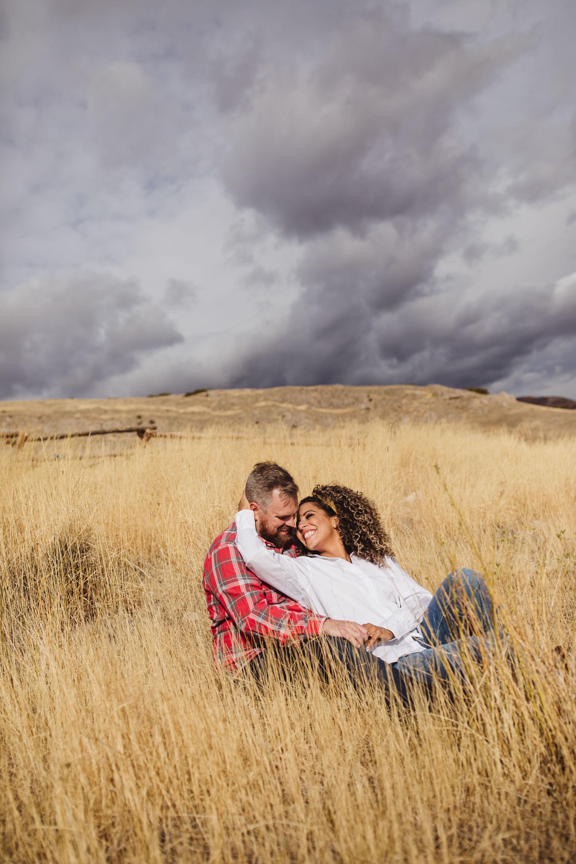 Gerusa & Eric Engagement Photo Kiss Utah