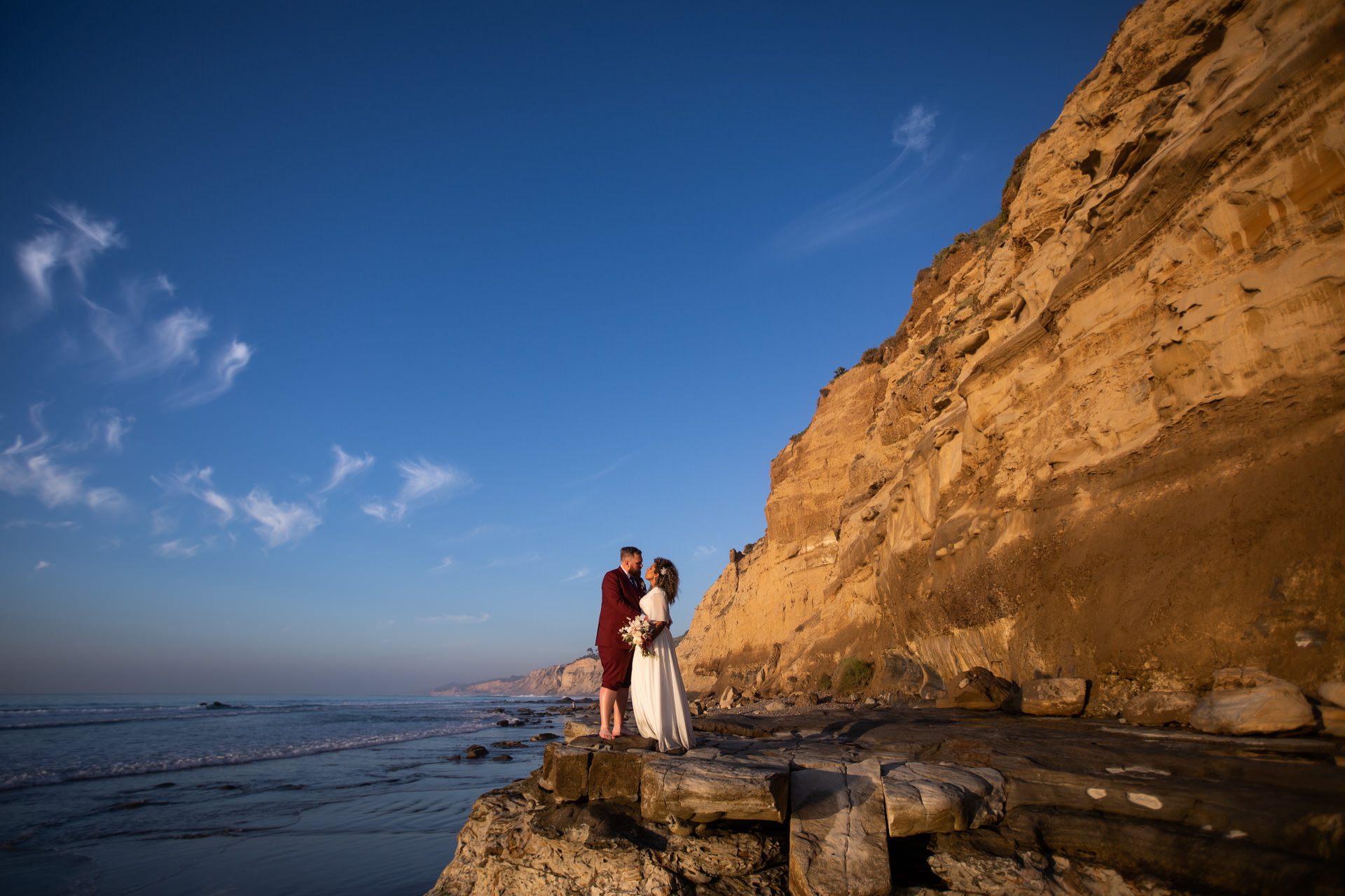 Gerusa and Eric La Jolla Beach Wedding Faces Photography
