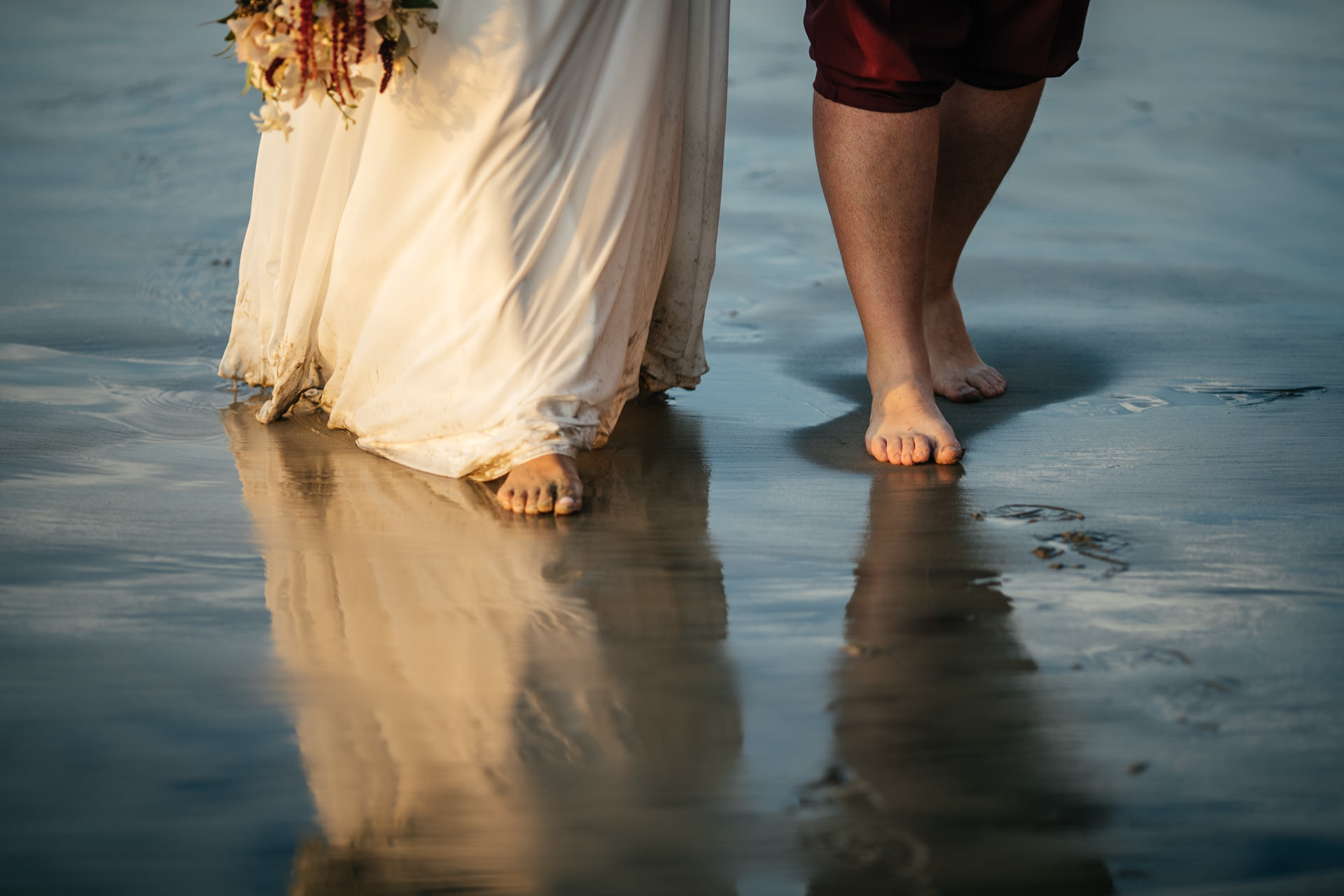 Gerusa Eric La Jolla San Diego Beach Wedding Sunset by Faces Photography