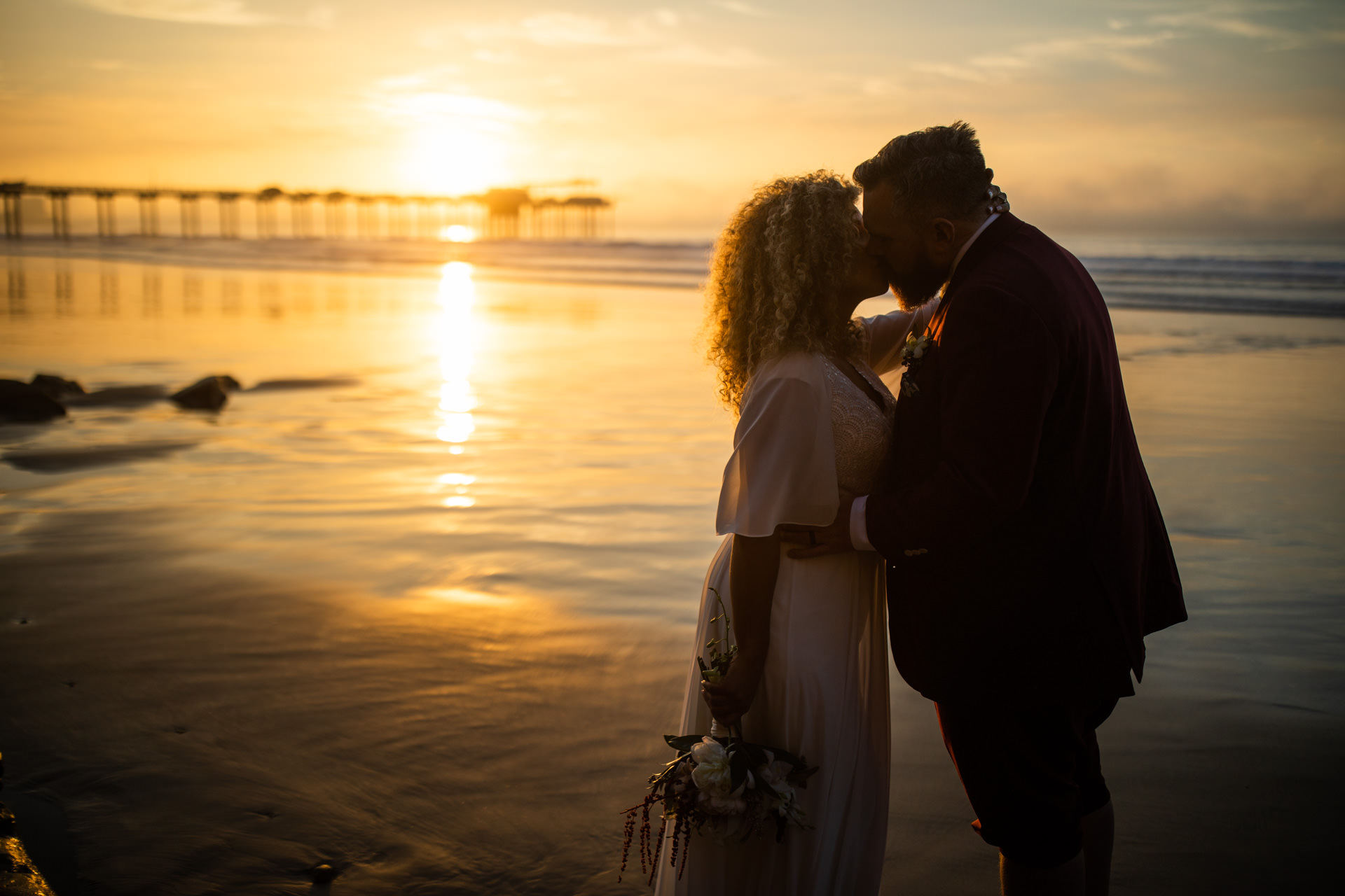 Gerusa Eric La Jolla San Diego Beach Wedding Sunset by Faces Photography