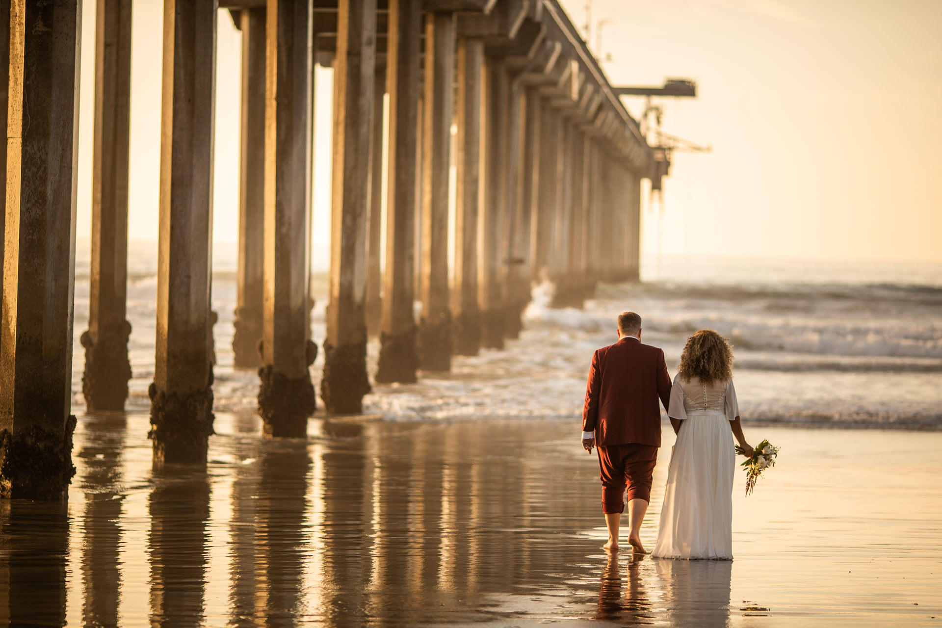 San Diego Beach Wedding Scripps Pier Faces Photography