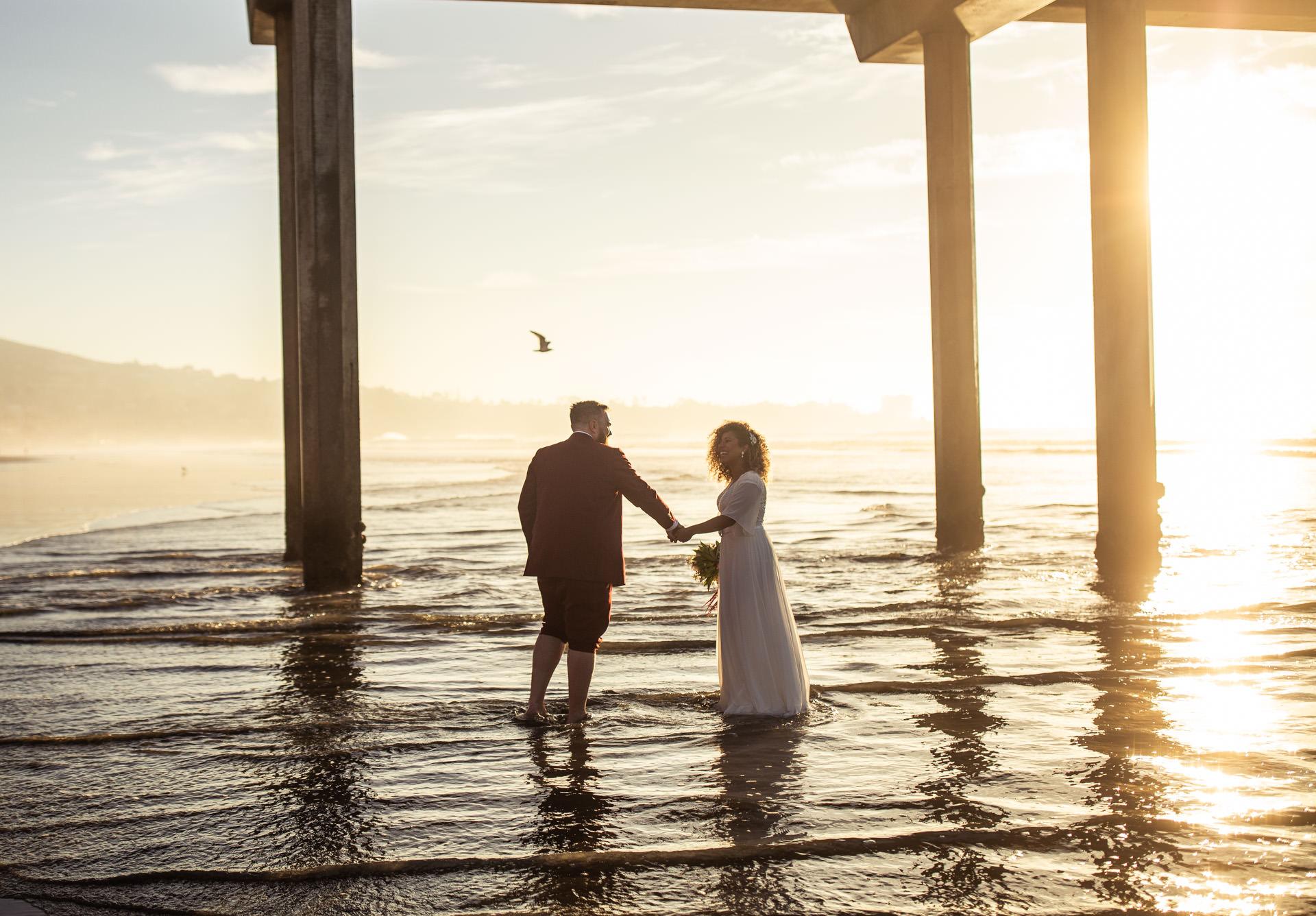 San Diego Beach Wedding Scripps Pier