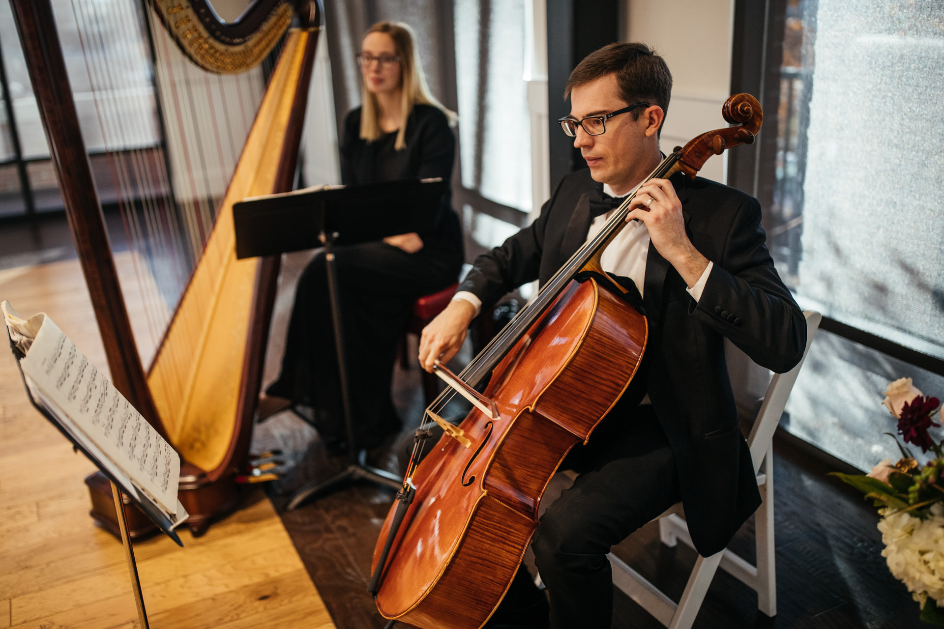 Gerusa Eric The Falls Reception Center Harp Cello Music
