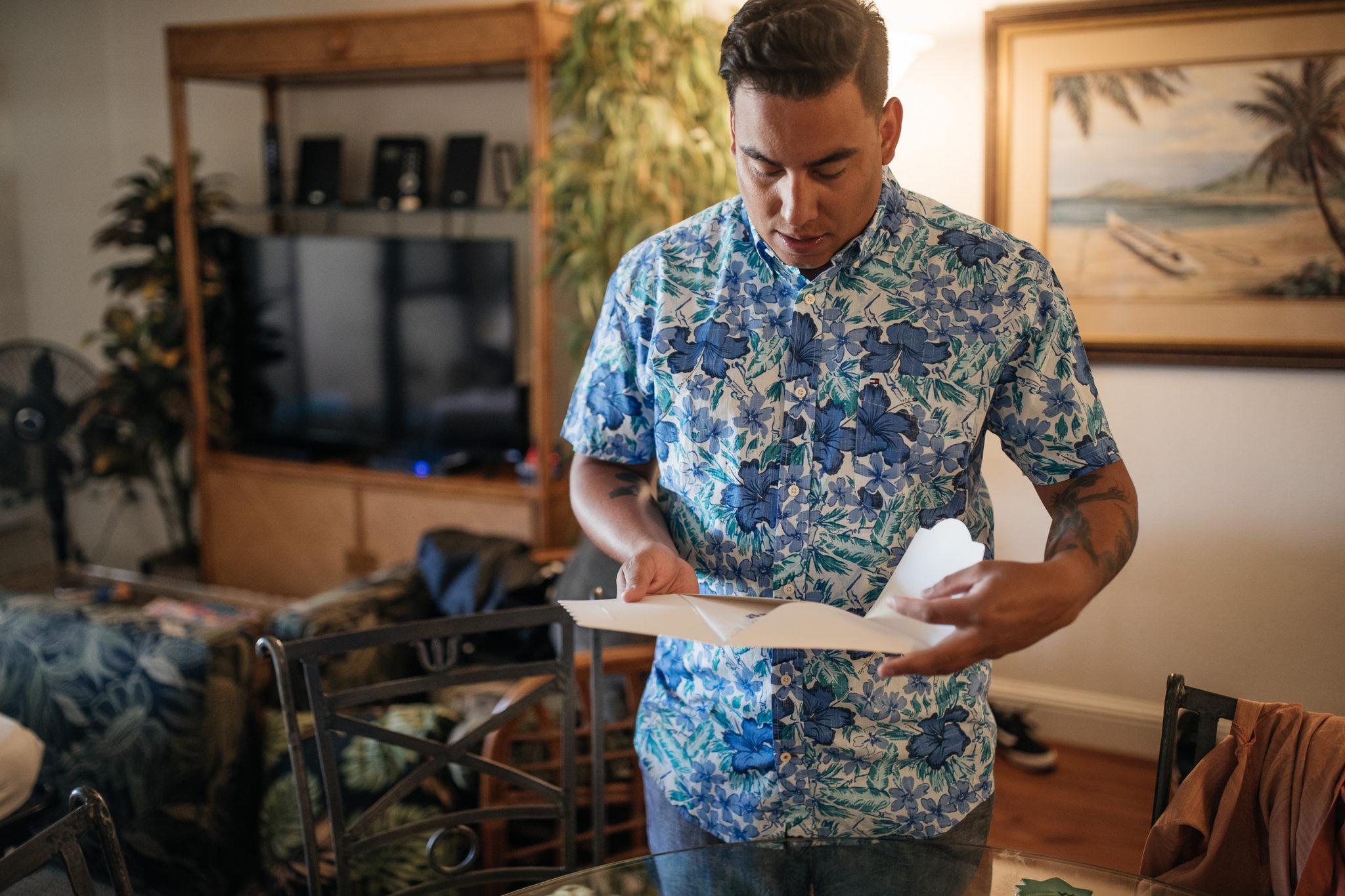 Groom Getting Ready Maui Hawaii Wedding