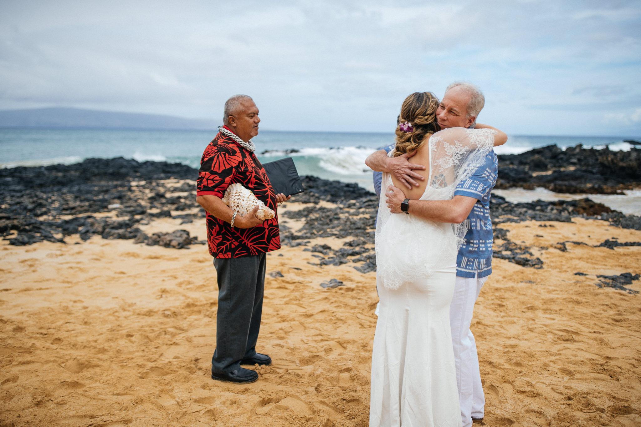 Secret Beach Cove Makena Maui Wedding
