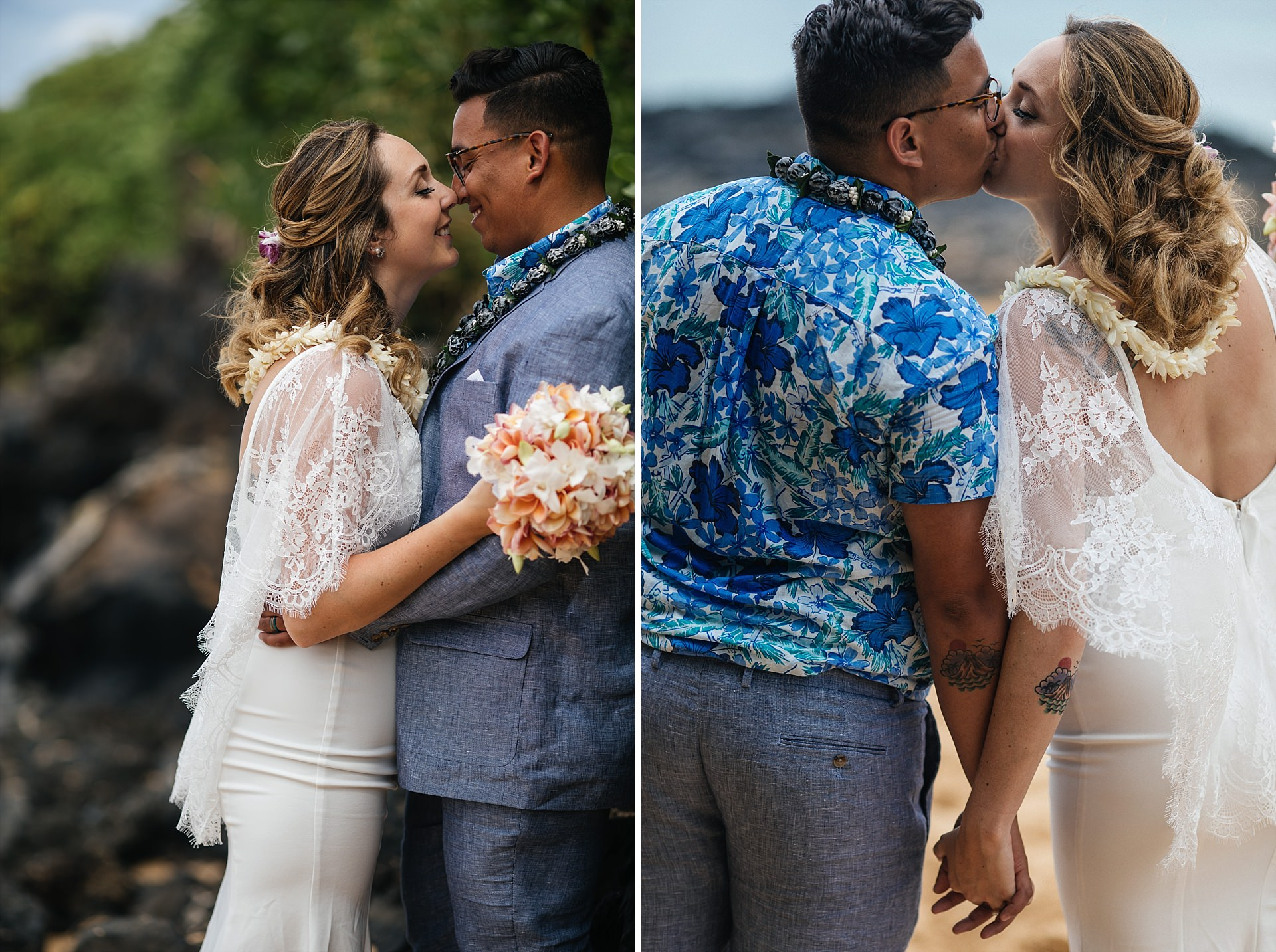 Makena Secret Cove Beach Maui Hawaii Wedding