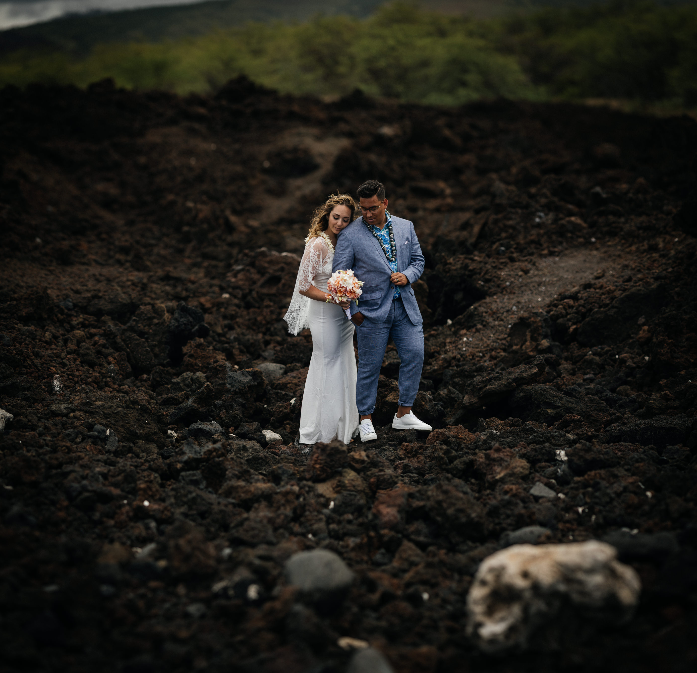 Hoalipi Trail Hawaii Wedding