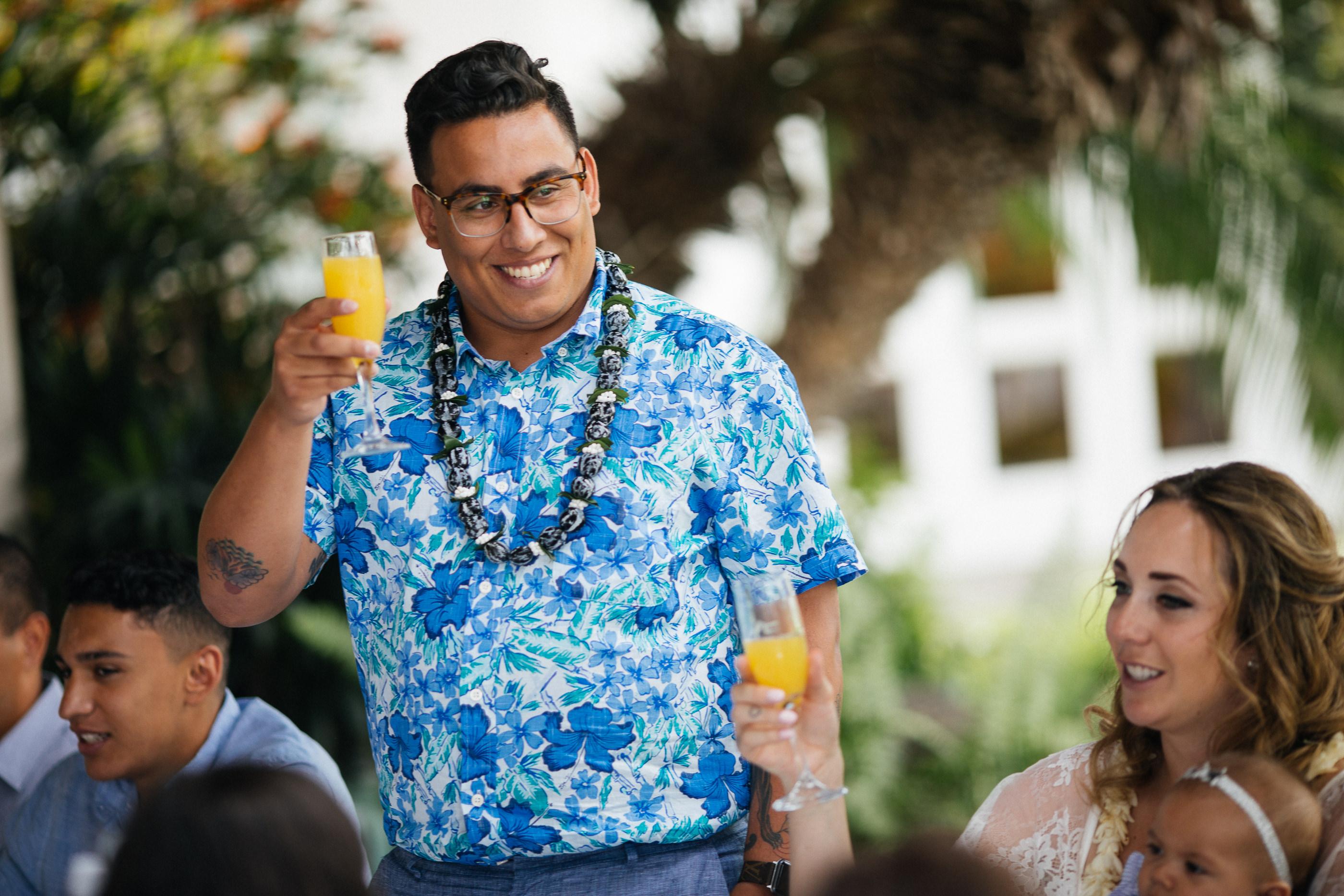 Groom Toast Maui Hawaii