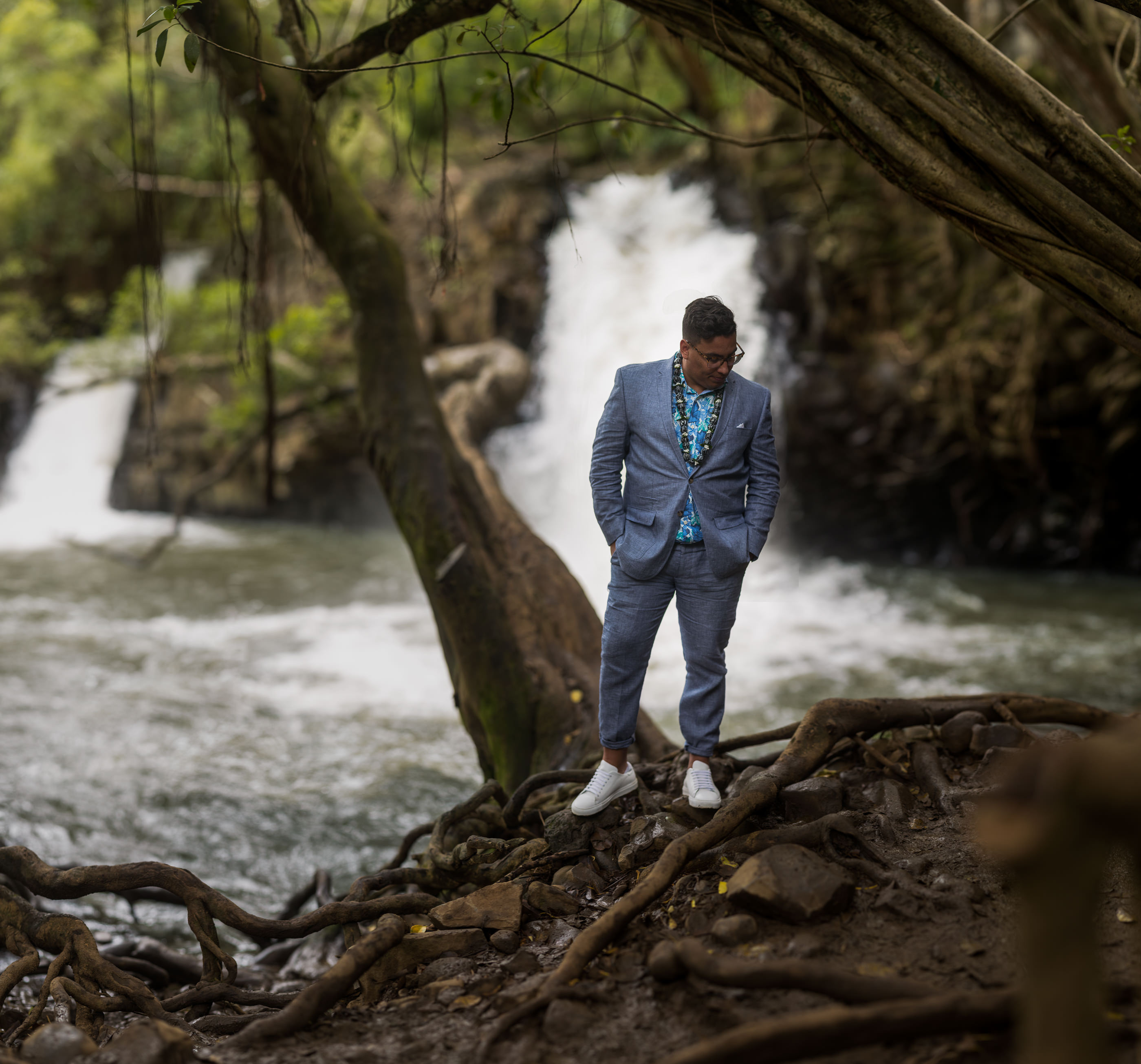 Twin Falls Maui Waterfall Wedding