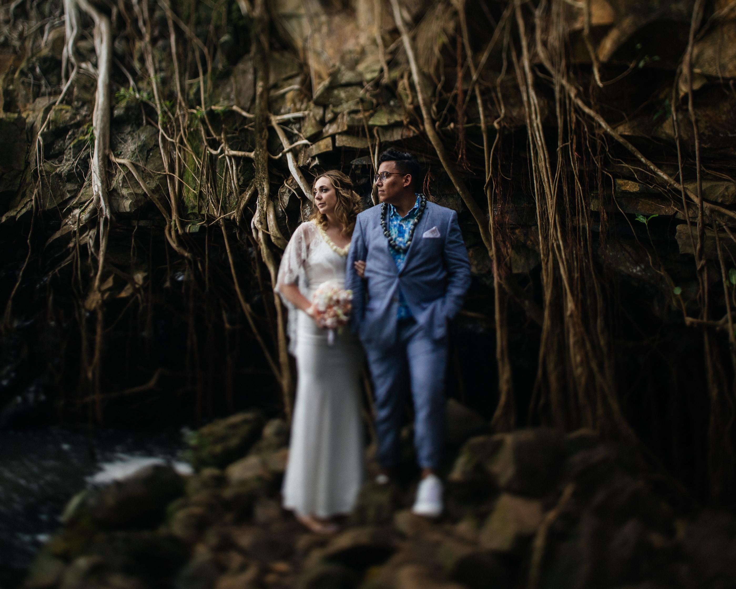 Twin Falls Maui Waterfall Wedding