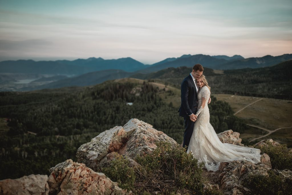 Epic Couple Wedding Portrait Deer Valley