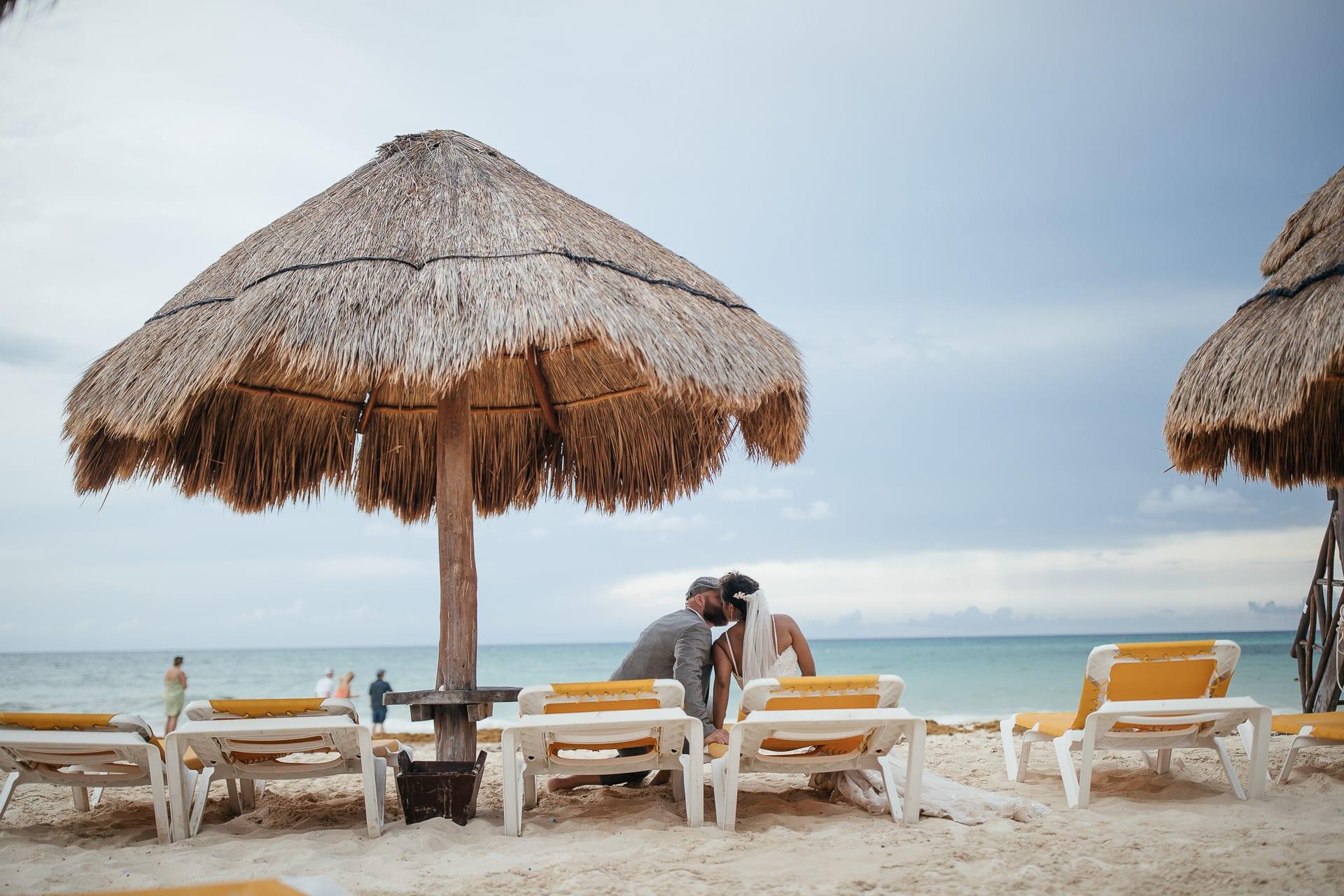 Mexico Beach Wedding Portraits
