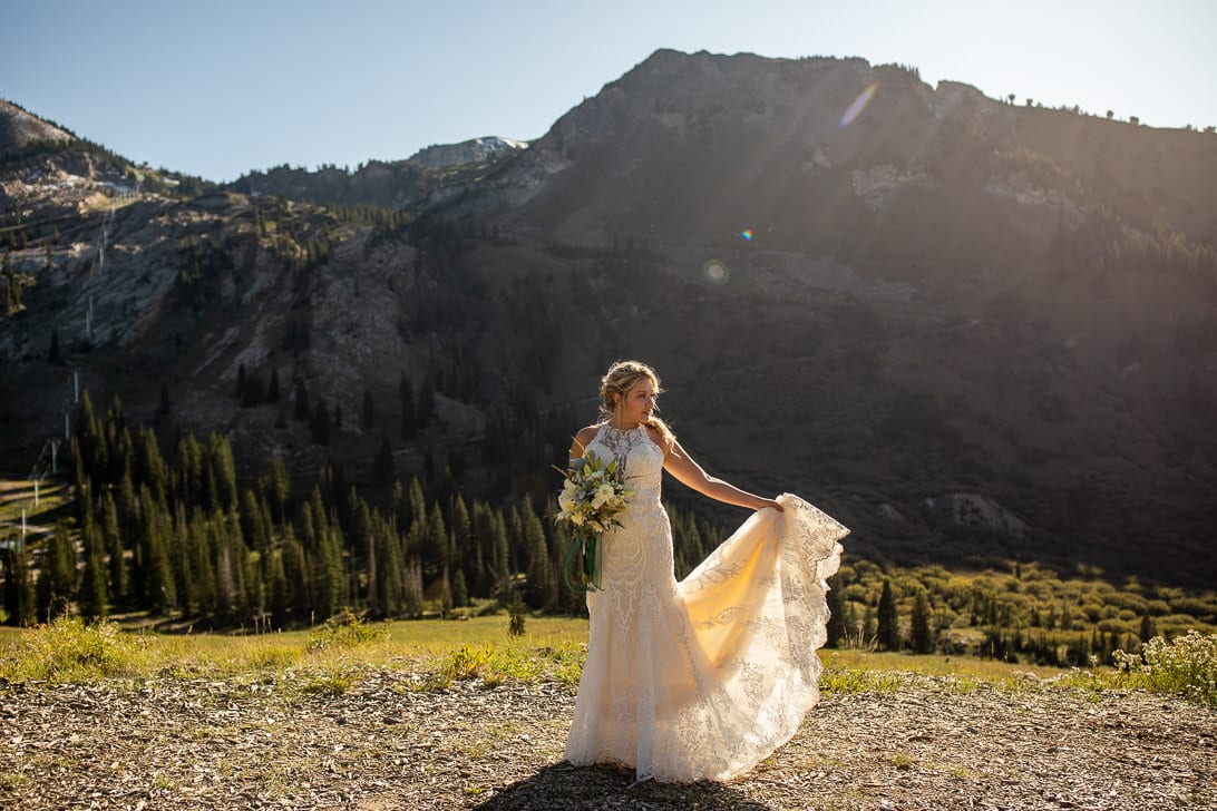 Bridal Portraits in Albion Basin Utah