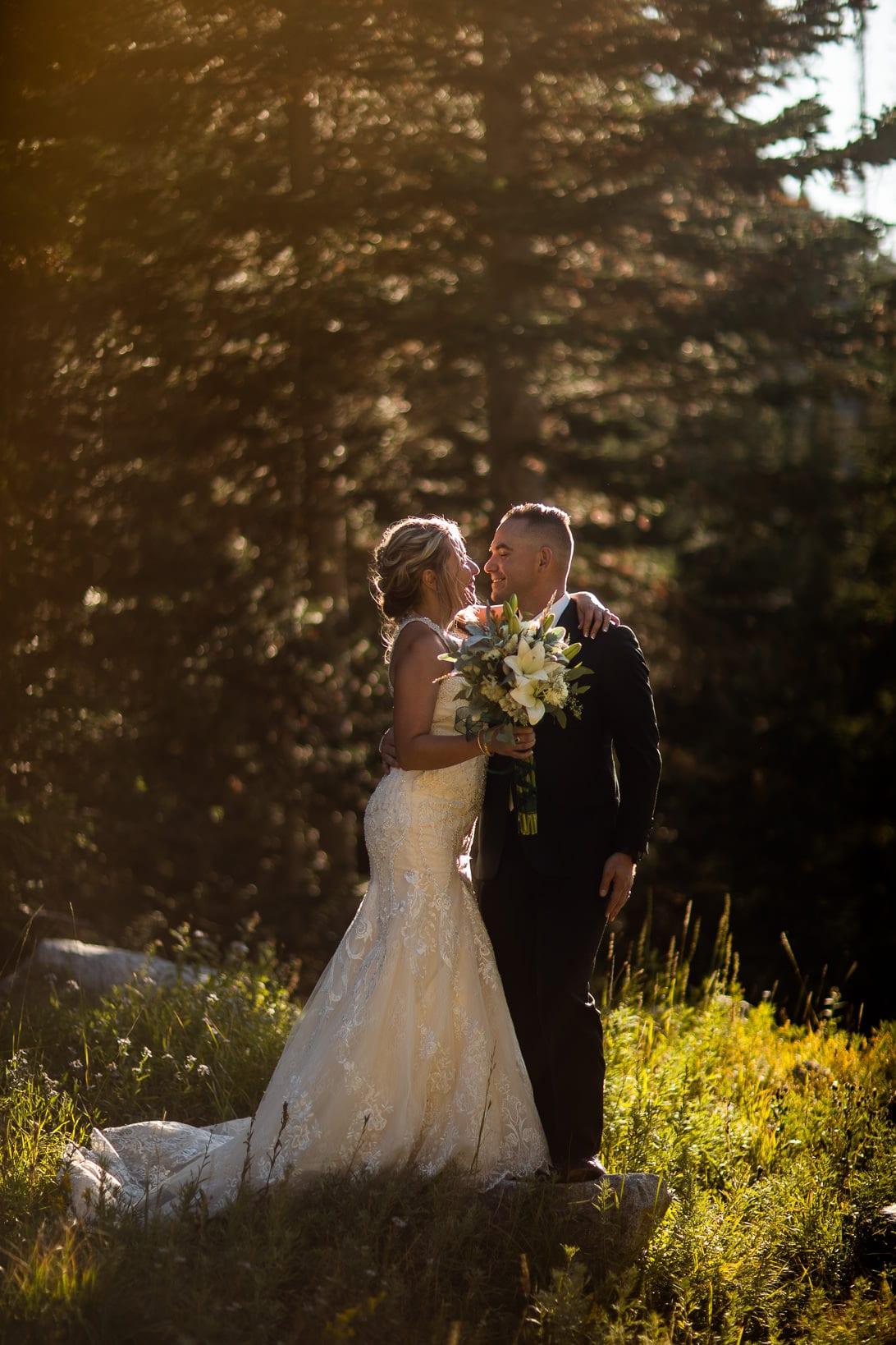 Couple Portraits in Albion Basin Utah