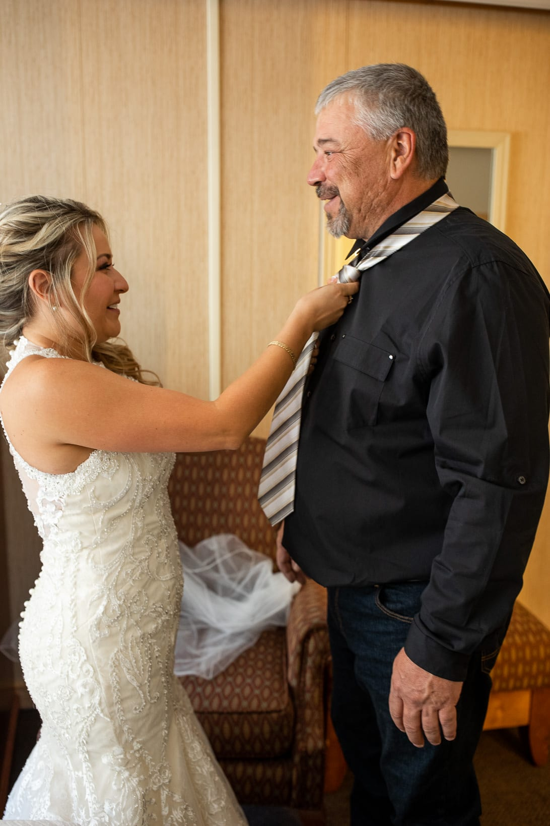 Dad Sees Bride before the wedding