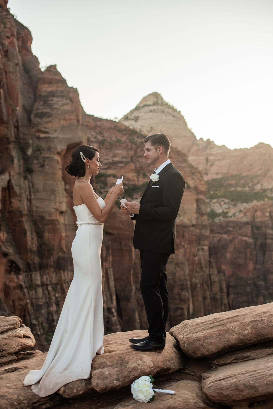 Exchanging Vows Zion National Park
