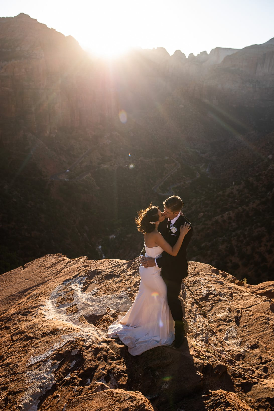 Couple Portraits at Canyon Overlook