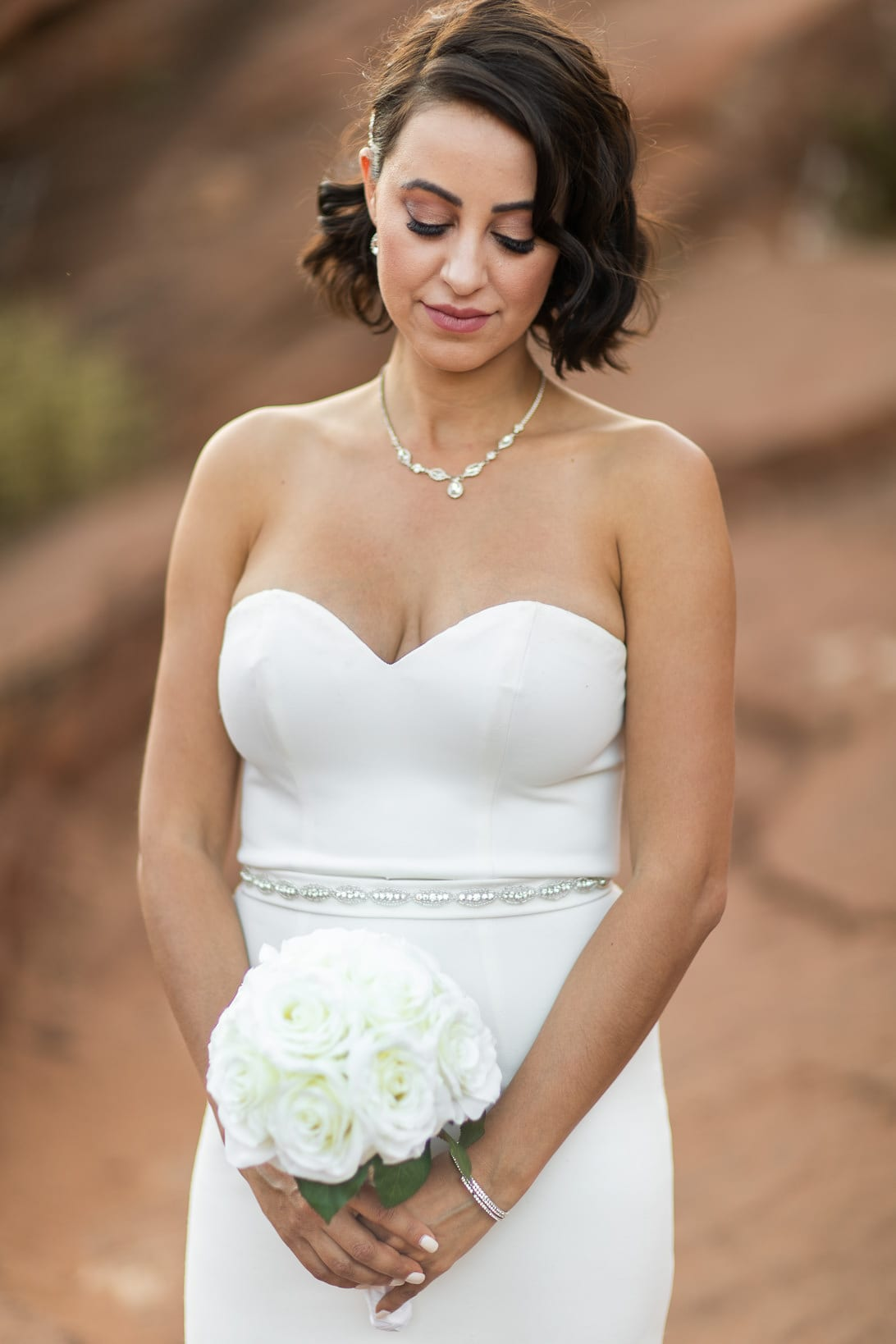 Bride Portraits on Canyon Overlook Zion