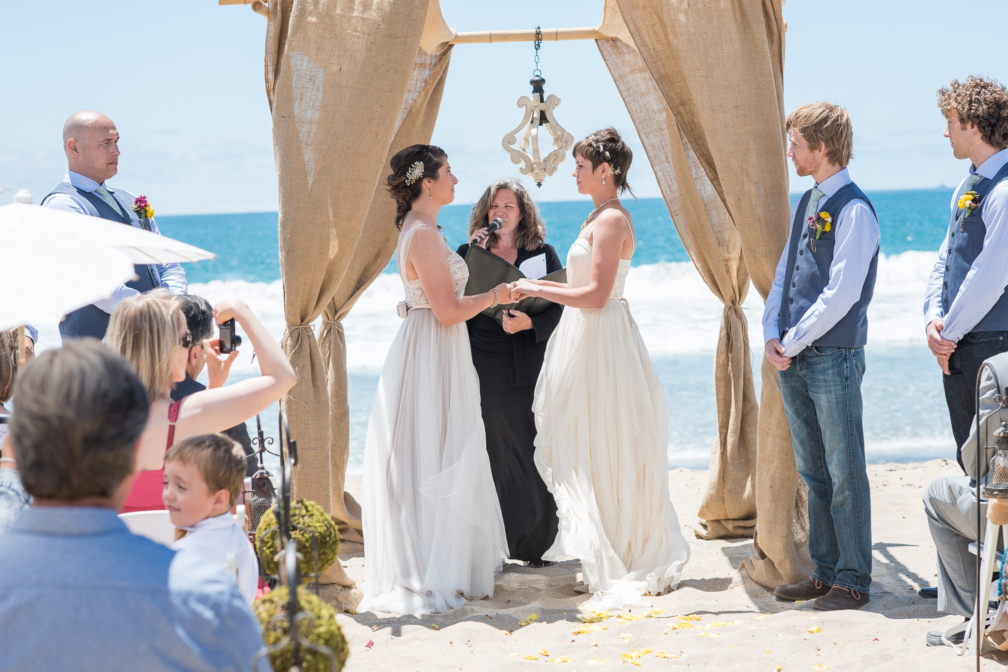 Beautiful Beach Same Sex Wedding