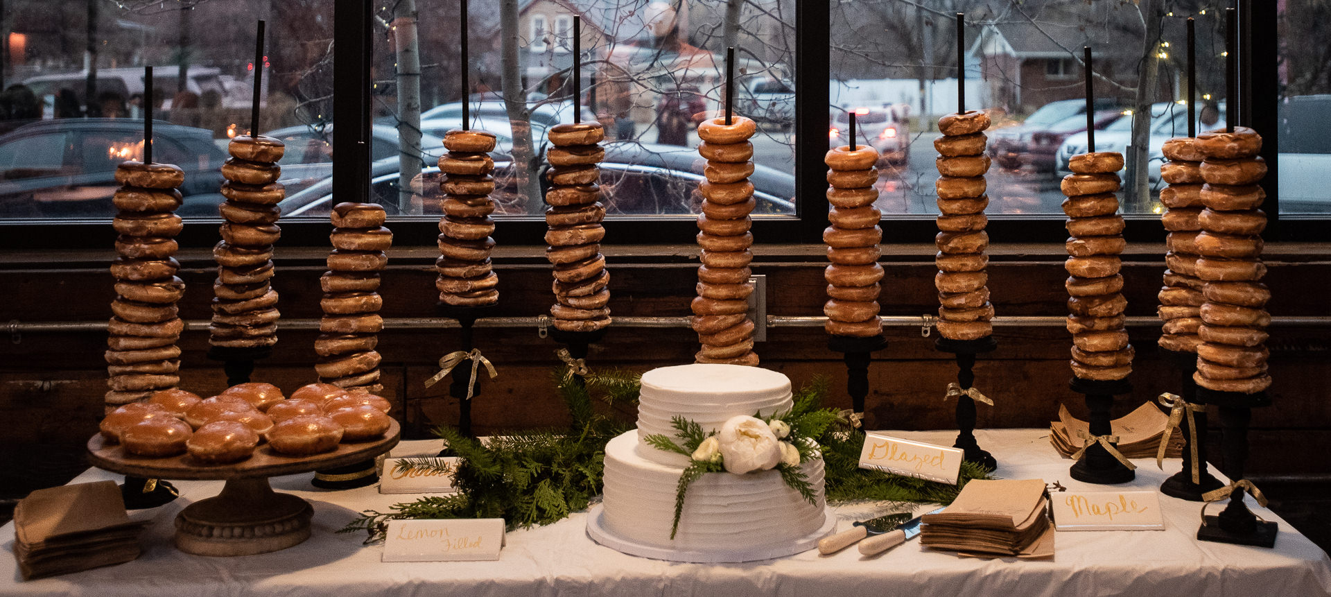 Wedding Donuts Cake