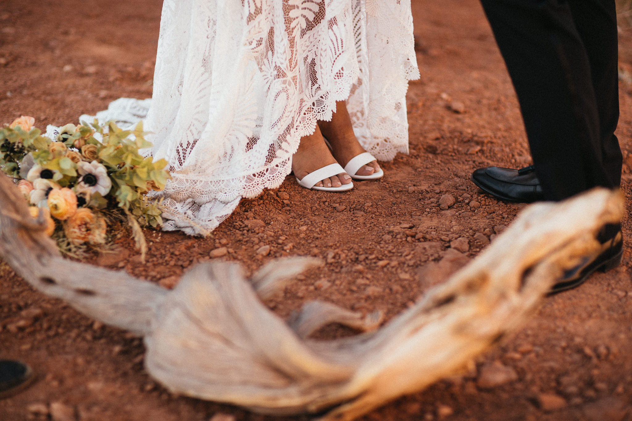 Quiet Wedding Ceremony in Arches National Park