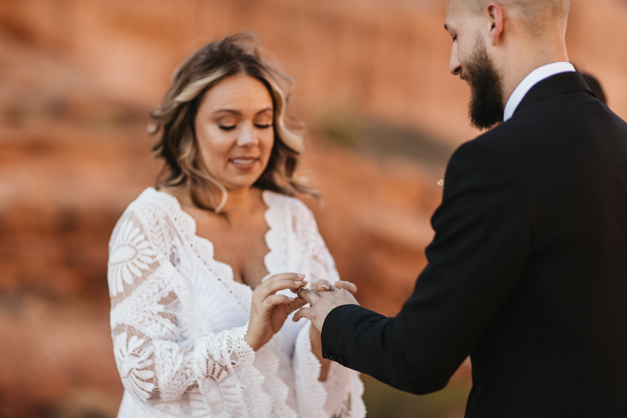 Ring Exchange in Arches National Park