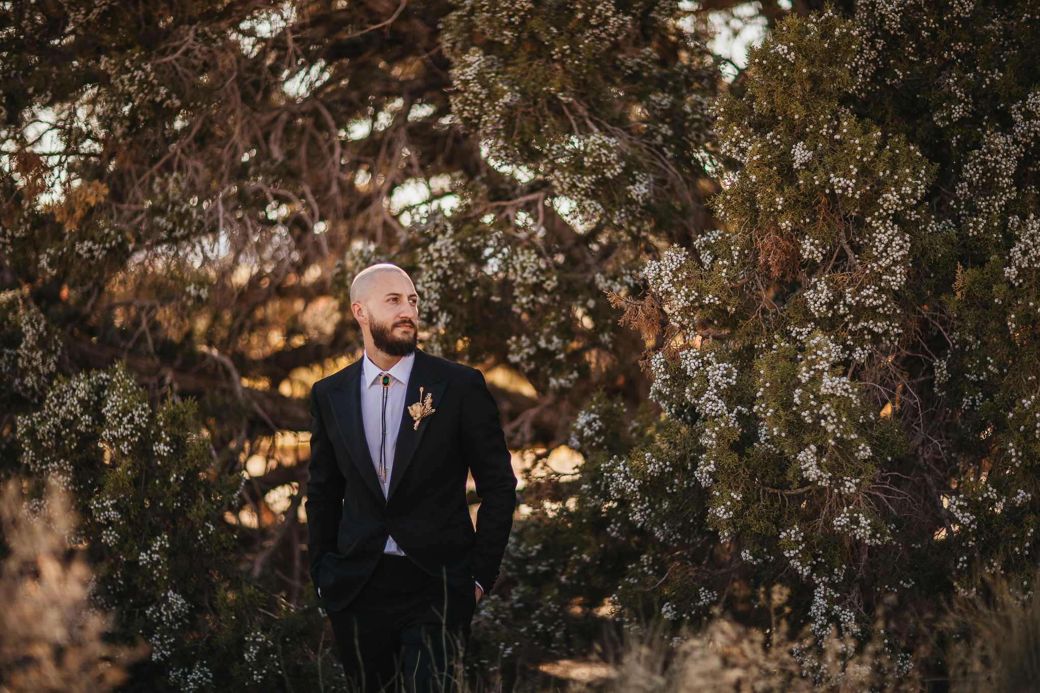 Groom Portraits at Double Arch