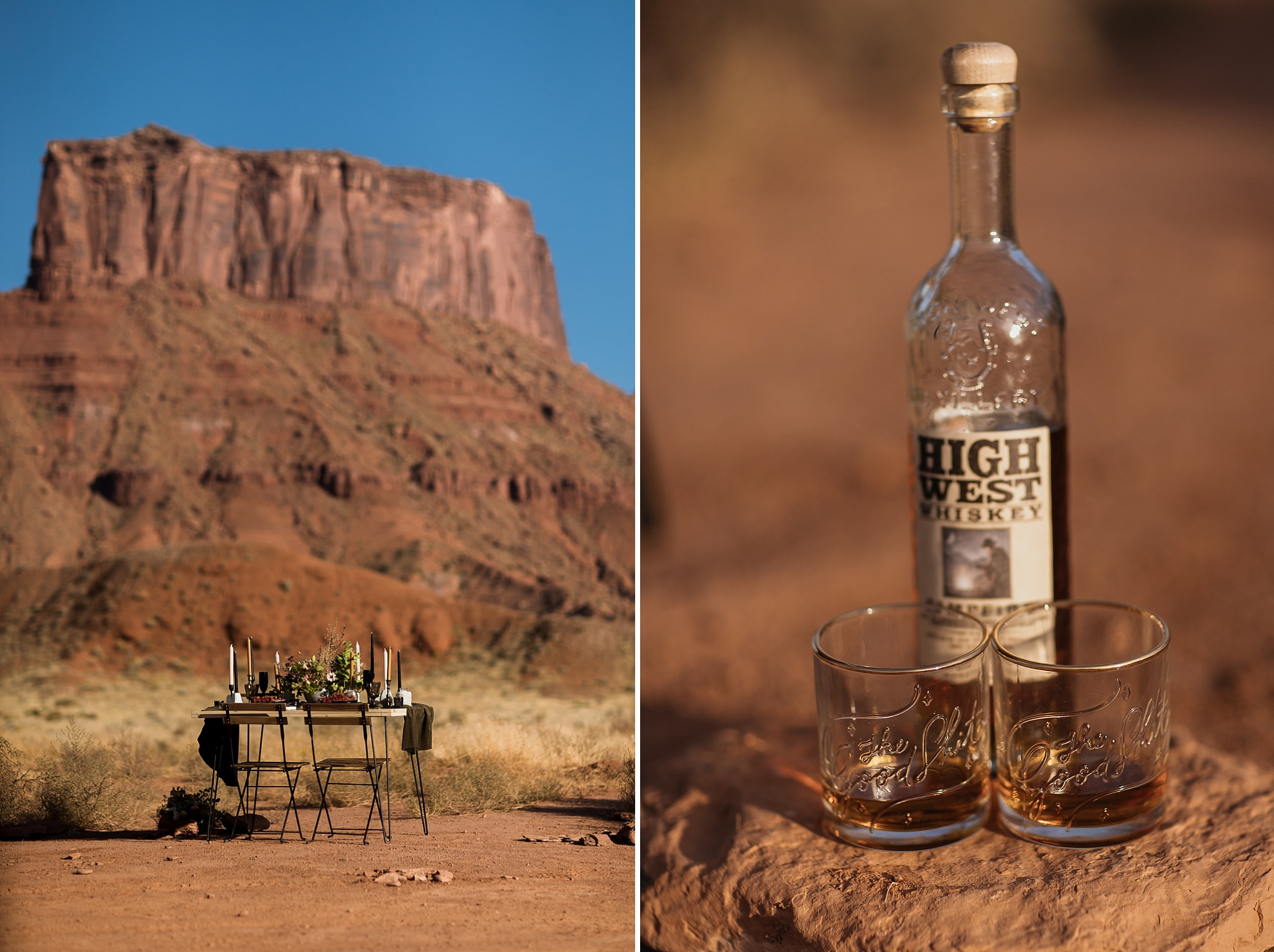 Detail Photos of Moab Elopement High West Whiskey