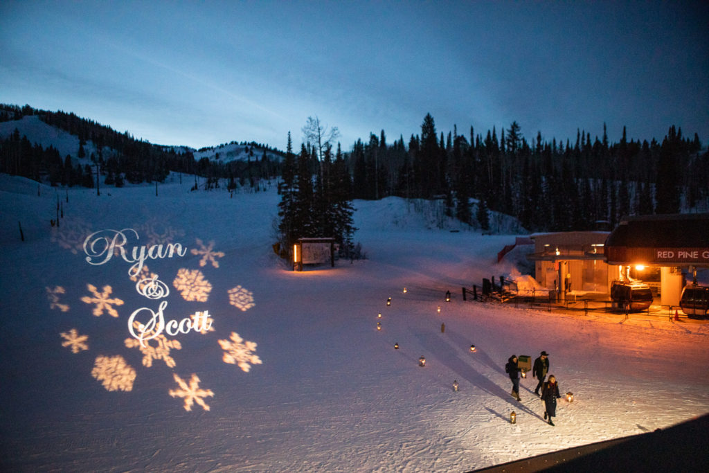 The Canyons Winter Wedding