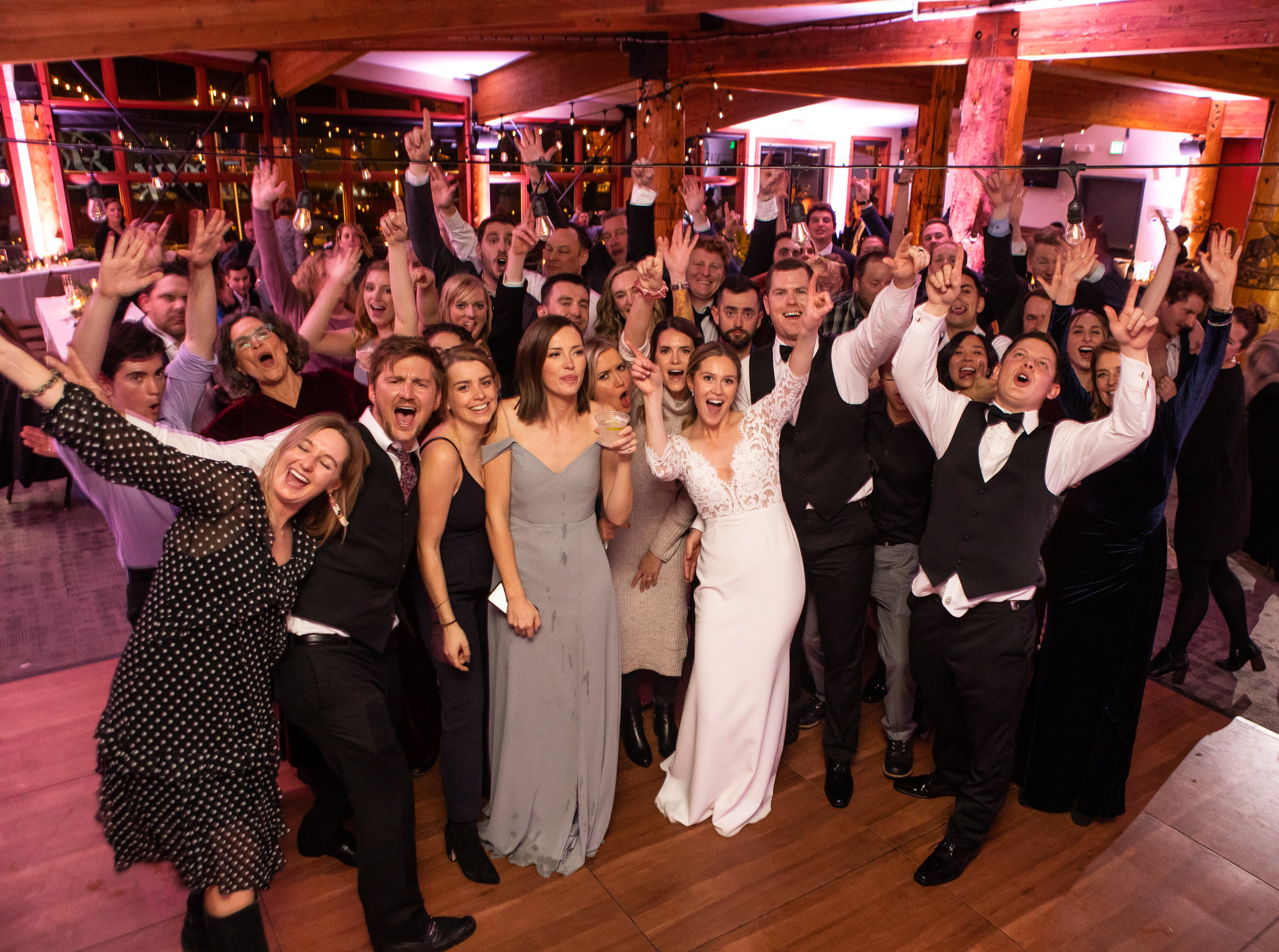 Red Pine Lodge Wedding Group Photo