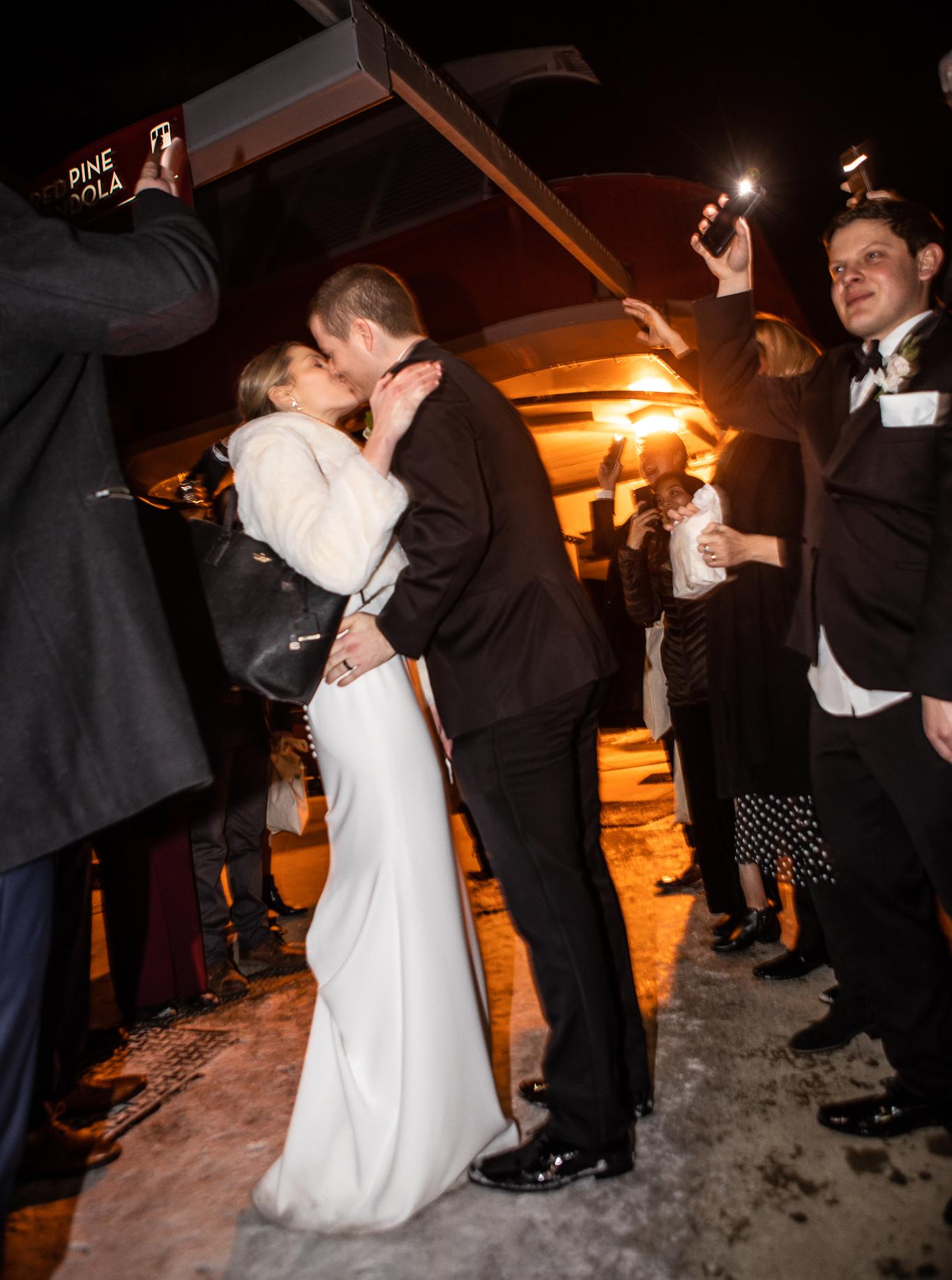 Winter Wedding Exit Photo