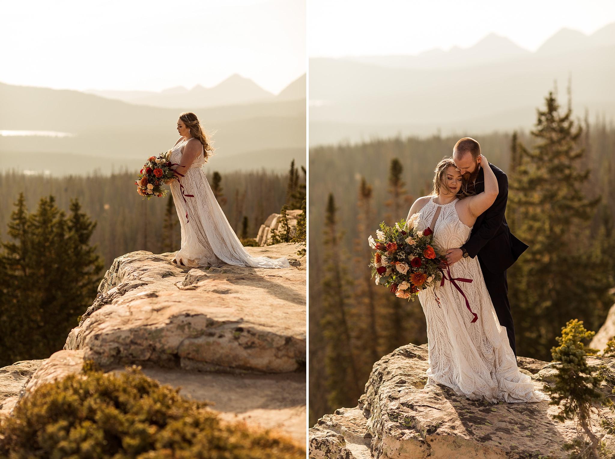 Wedding Portraits on a Cliff