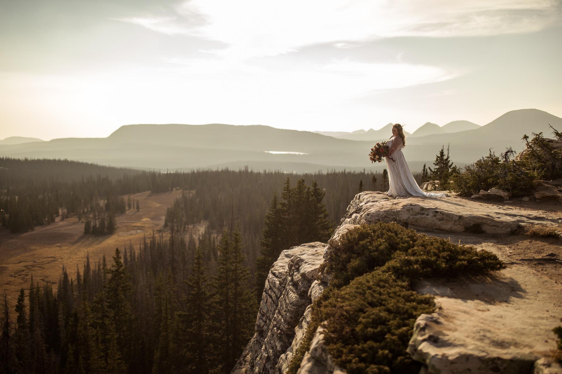 Bridal Portraits on a Cliff