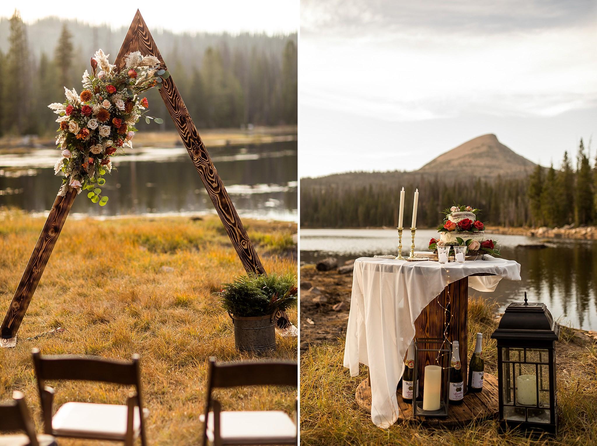 Ceremony Setup at Crater Lake