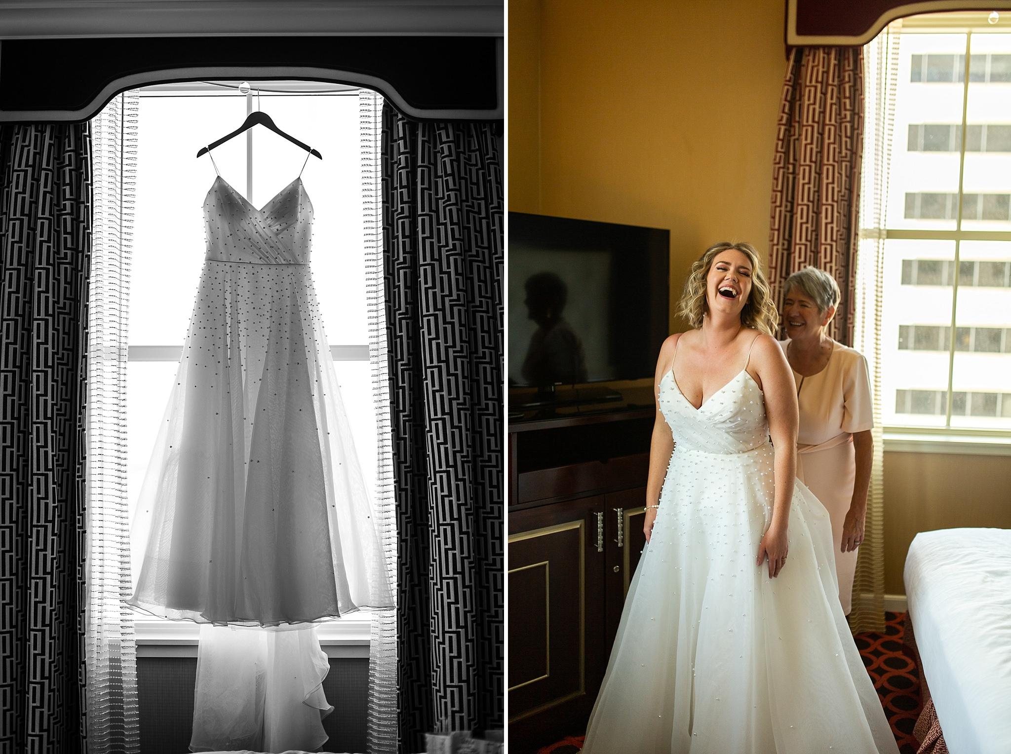 Bride gets ready Hotel Monaco